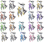 Arceus - All Plates - Fairy Added by Xous54