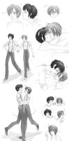 Spamano - Sketchdump by x-Lilou-chan-x