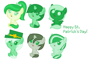 St. Patrick's Day Adoptables by LittleSnowyOwl