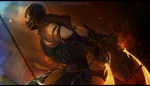 Mortal Kombat Scorpion FanArt by NaeNeko