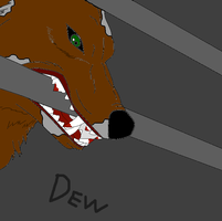 Dew: A caged wolf by TFP-Steeljaw