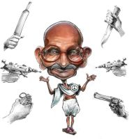 gandhi by efdemon