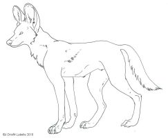 Free Lineart - Painted Dog by MisterAsphodel