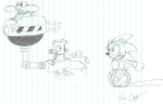 Sonic sketch for a friend by FirebirdPhoenix87