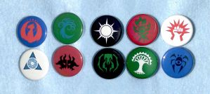 Ravnica Guild Pins by AriMich
