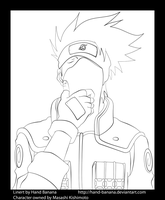 Kakashi is the truth Lineart by Hand-Banana