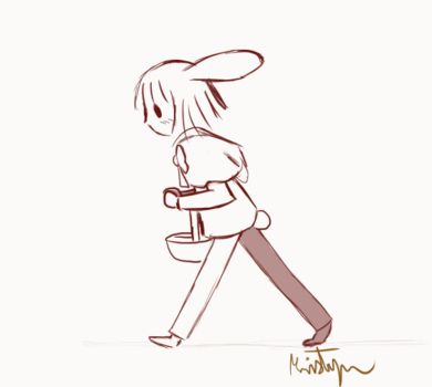 Wabbit Walk Lineart by Friendlyfoxpal