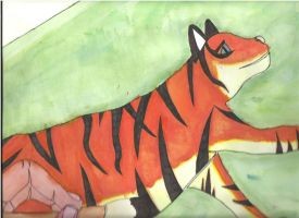 Tiger-Water Colour by Purdy26