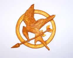 Mockingjay pin by crafting-Farah
