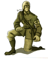 WWII Medic - Across the line by diceberg7