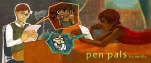 Heroes: Pen Pals - Title Page by feyuca