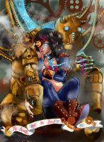 Steampunk-Making the Beast by Linyaen