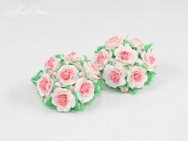 bouquet of peonies by OrionaJewelry