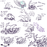 Livestream - Gauntlet Doodles, Dammit by VibrantEchoes