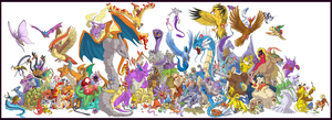 Every First Generation Pokemon! by Speras