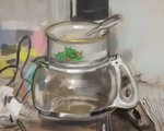 Bowl on a coffee pot by Pinzette