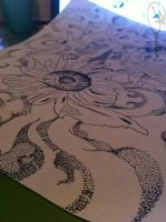 close up angle of pointillism (5) by DontEvenTripBro