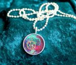 Small Colorful Pendant by sillysarasue