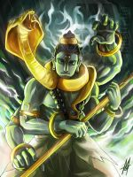Shiva the Destructor by MauroIllustrator