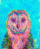 Barn Owl painting by DevTheDrawer