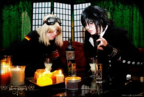Steampunk DeathNote: Absinthe by Maru-Light