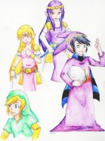 Link Between Worlds doodles by deathofabyss