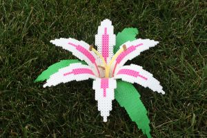 Perler Bead Lily by Delilah2012