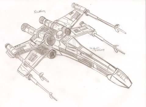 Star Wars X-Wing by HowSplendid