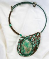 Necklace with jasper by Renfrie