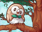 Perched Rowlet by Prismshard