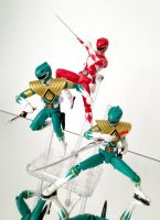 Red and Green Rangers by 0PT1C5