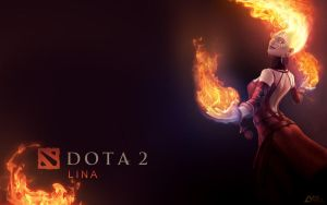 DOTA2 Lina Wallpaper by Lynx6