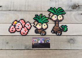 Exeggcute Family - Pokemon Perler Bead Sprites