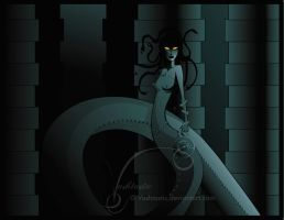 Hellboy: Gorgon Eyed Hecate by Vashtastic