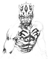 Darth Maul quick drawing by niezamcomic