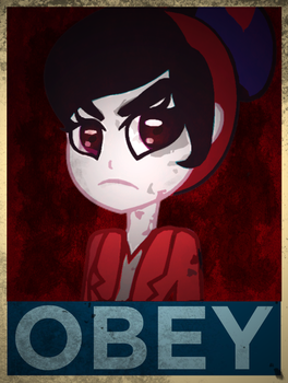 EQG Obey Poster [DOTF] by MrDeLoop