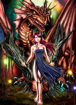 dragon and girl story by sinms