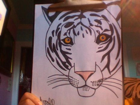 Ren as a tiger by Norcotiger