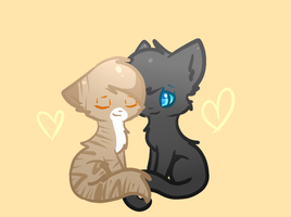 Leafpool x Crowfeather by Le-Poofe