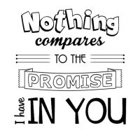 Nothing compares to the promise I have in You by melikescrackers