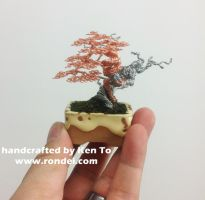 Yamadori style two-tone wire bonsai tree by Ken To by KenToArt