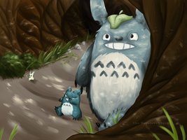 Totoro by TheHayzlenut