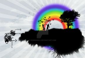 love under rainbow by bomm2hell