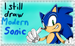 Modern Sonic Stamp by MorganTheCat2468