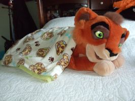Kovu with his Blankie by Itachislilgirl
