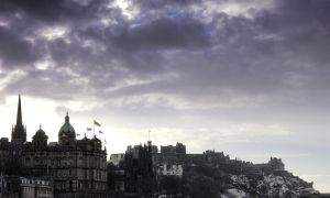 Edinburgh Castle and Old Town by Beachrockz4eva