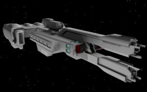 HALO 2 UNSC Frigate WIP 4 by korblborp