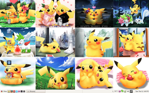 Pikachu Collage Remake Linux Mint 17.1 Mate by PharaohAtisLioness