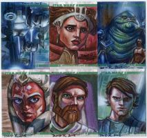 Clone Wars Sketch Cards by DavidRabbitte