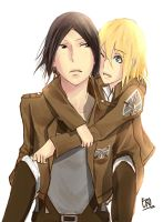 Shingeki no Kyojin : Ymir X Christa by HaizeHat